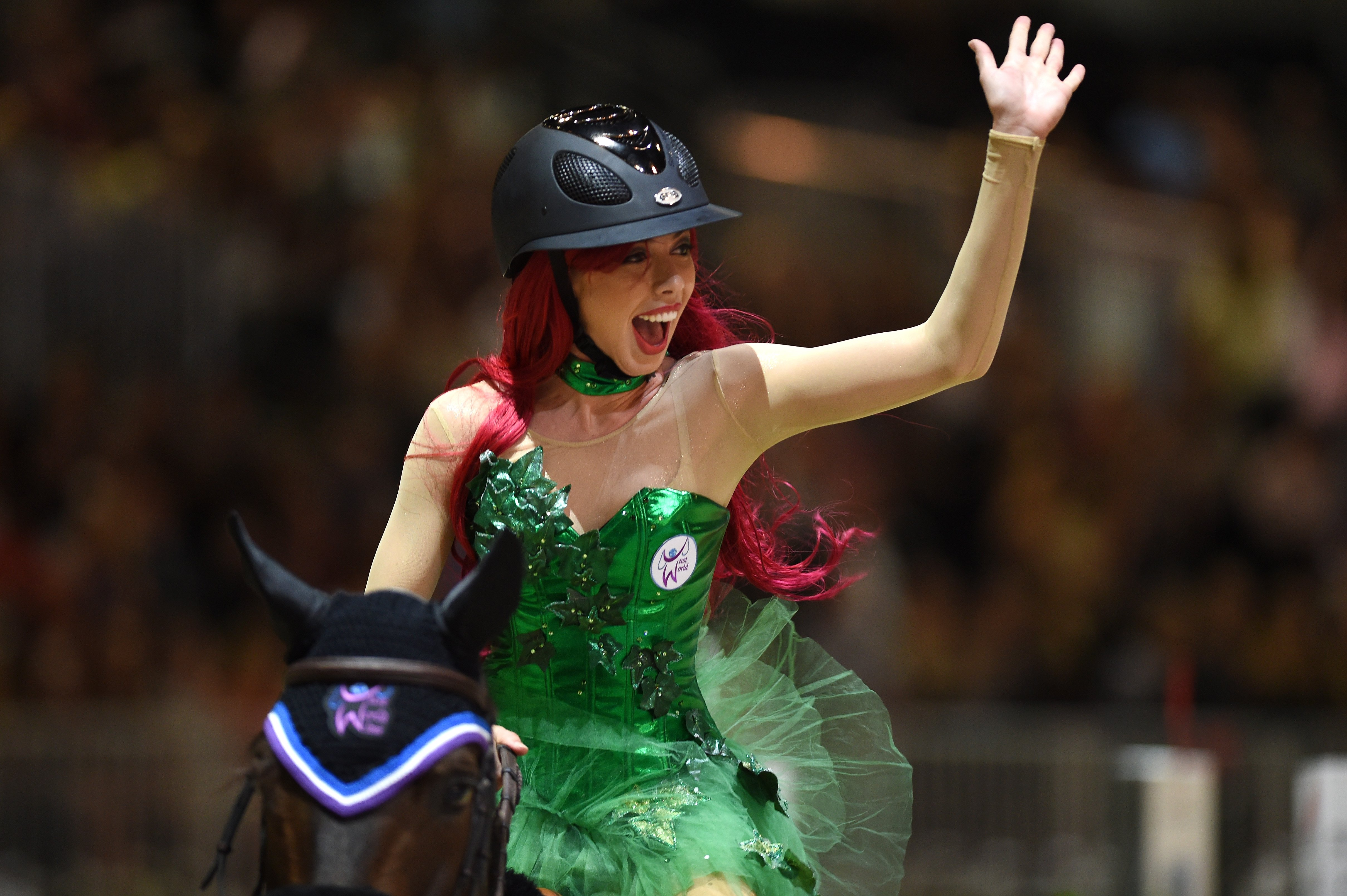 Hannah Selleck performs during the Charity Pro-AM class at Longines Los Angeles Masters at Los Angeles Convention Center on September 27, 2014  | Photo: GettyImages