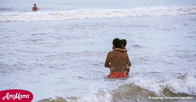 Papá fallece trágicamente al ahogarse intentando salvar a su hijo que era arrastrado por el mar