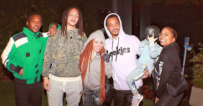 Tiny Harris Shares a Touching Photo Posing with Family on Her Stepson Domani's 20th Birthday