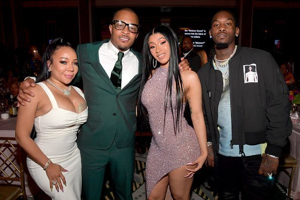 """Tameka Dianne """"Tiny"""" Harris, T.I., Cardi B and Offset at the 2019 ASCAP Rhythm & Soul Music Awards on June 20, 2019 