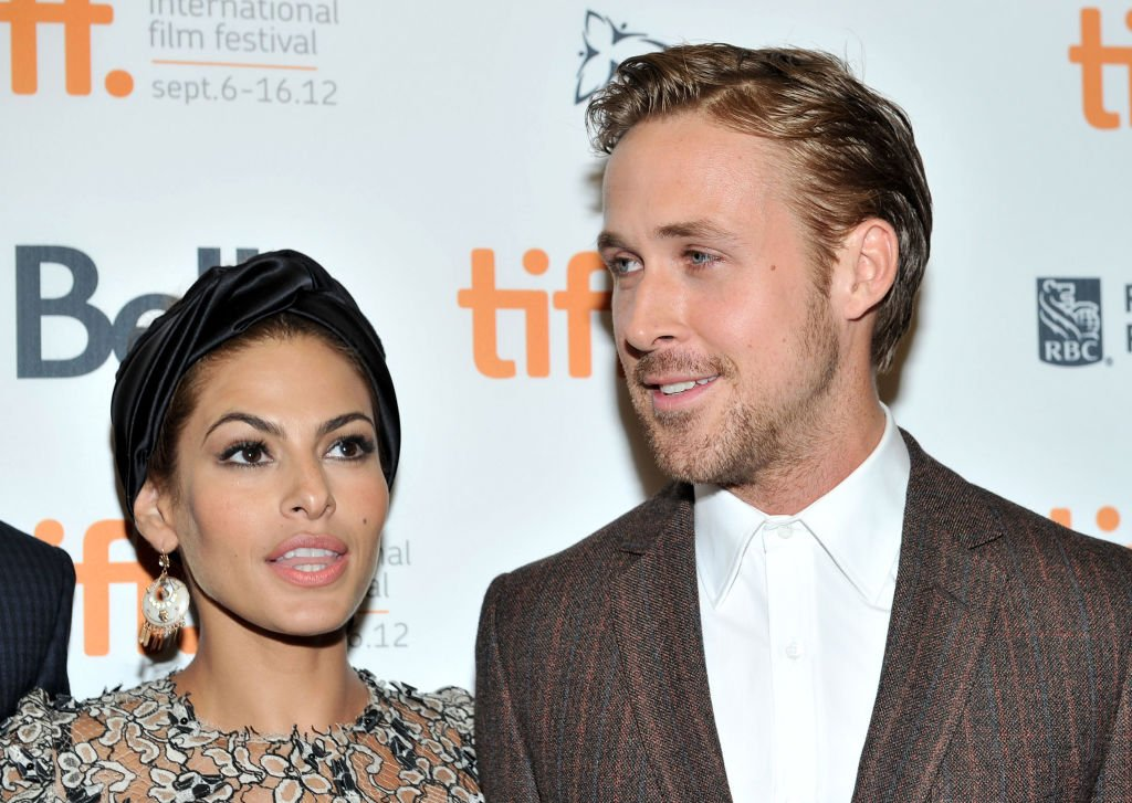 """Ryan Gosling and Eva Mendes pictured at """"The Place Beyond The Pines"""" premiere, 2012, Canada. 