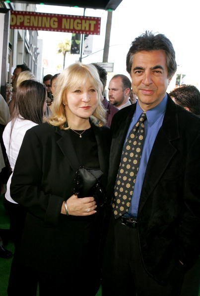 """Joe Mantegna (R) and wife Arlene Vrhel arrive at the Los Angeles Premiere of the Broadway musical """"Wicked"""" at the Pantages Theatre on June 22, 2005, in Hollywood, California. 