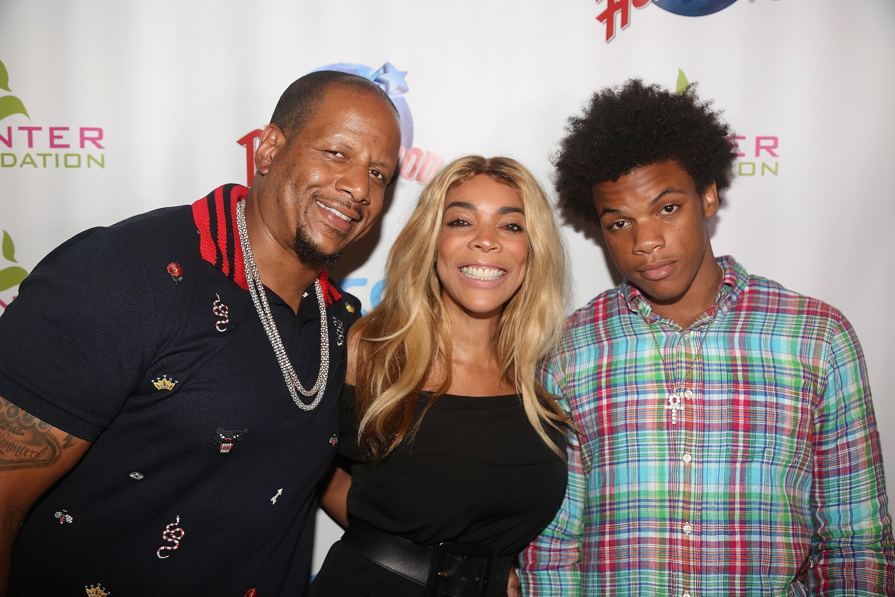 Kevin Hunter, Wendy Williams and their only son and child, Kevin Hunter, Jr. celebrating the couple's Hunter Foundation in July 2017. | Photo: Getty Images