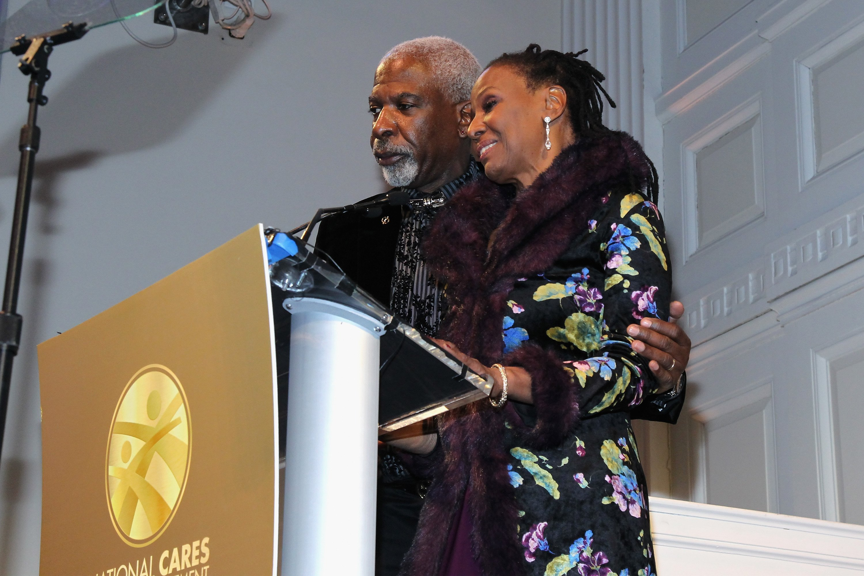 Dan Gasby and B. Smith speak at National CARES Mentoring Movement event in 2016 | Getty Images