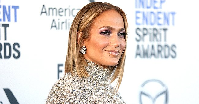 J Lo Flaunts Her Killer Curves Posing with Co-star Maluma in a High-Slit Cutout Dress