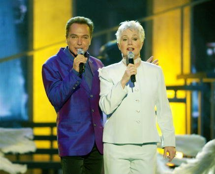 David Cassidy and Shirley Jones perform during the TV Land Awards 2003 at the Hollywood Palladium on March 2, 2003, in Hollywood, California. | Source: Getty Images.