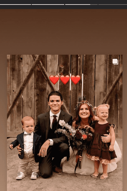Jacob Rollof, his wife, Isabel, Tori Roloff's son, Jack and his cousin Ember | Photo: Instagram/Jacob Roloff