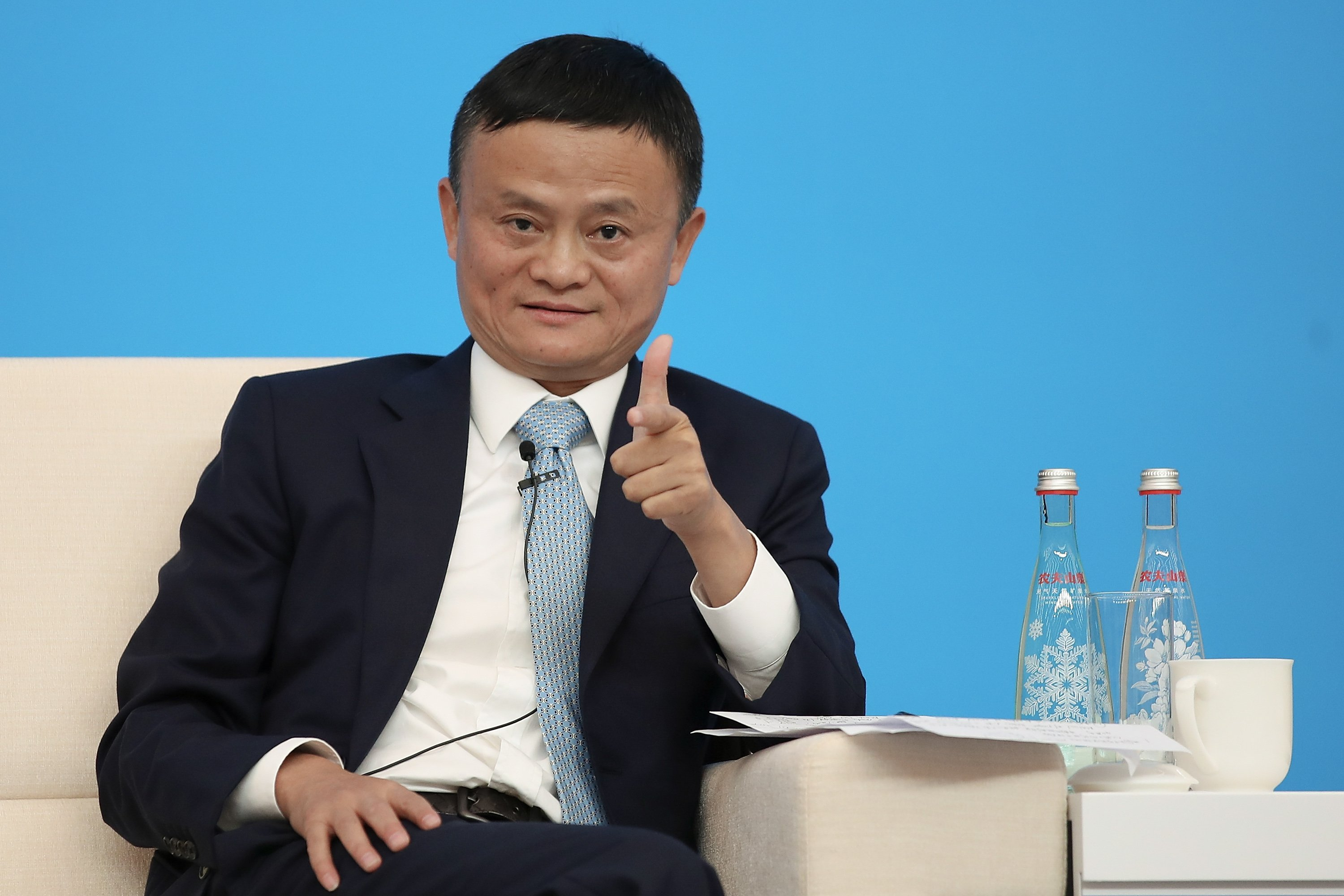 Jack Ma at the National Exhibition and Convention Center in Shanghai, China | Photo: Getty Images