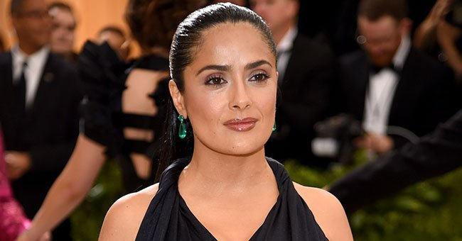 Salma Hayek, 53, Looks Wonderful in a Black Swimsuit That She Paired with a White Hat