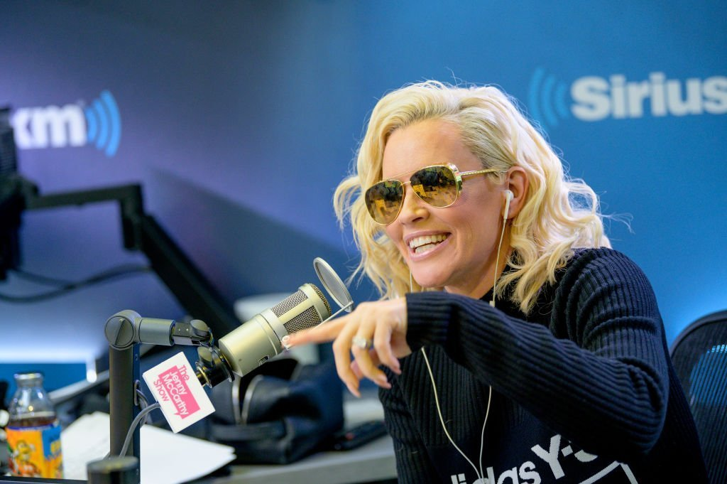 "Host Jenny McCarthy as Rapper LL Cool J visits ""The Jenny McCarthy Show"" at SiriusXM Studios 