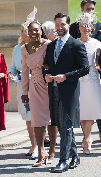 Serena Williams et Alexis Ohanian assistent au mariage du prince Harry avec Meghan Markle à la chapelle St George du château de Windsor le 19 mai 2018. | Photo : Getty Images