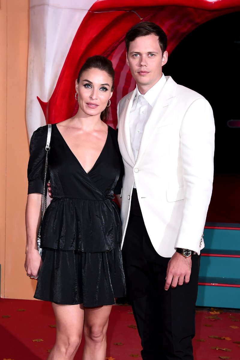 "Bill Skarsgård and Alida Morberg attending the ""IT Chapter Two"" European Premiere at The Vaults in London, England, in September 2019. 