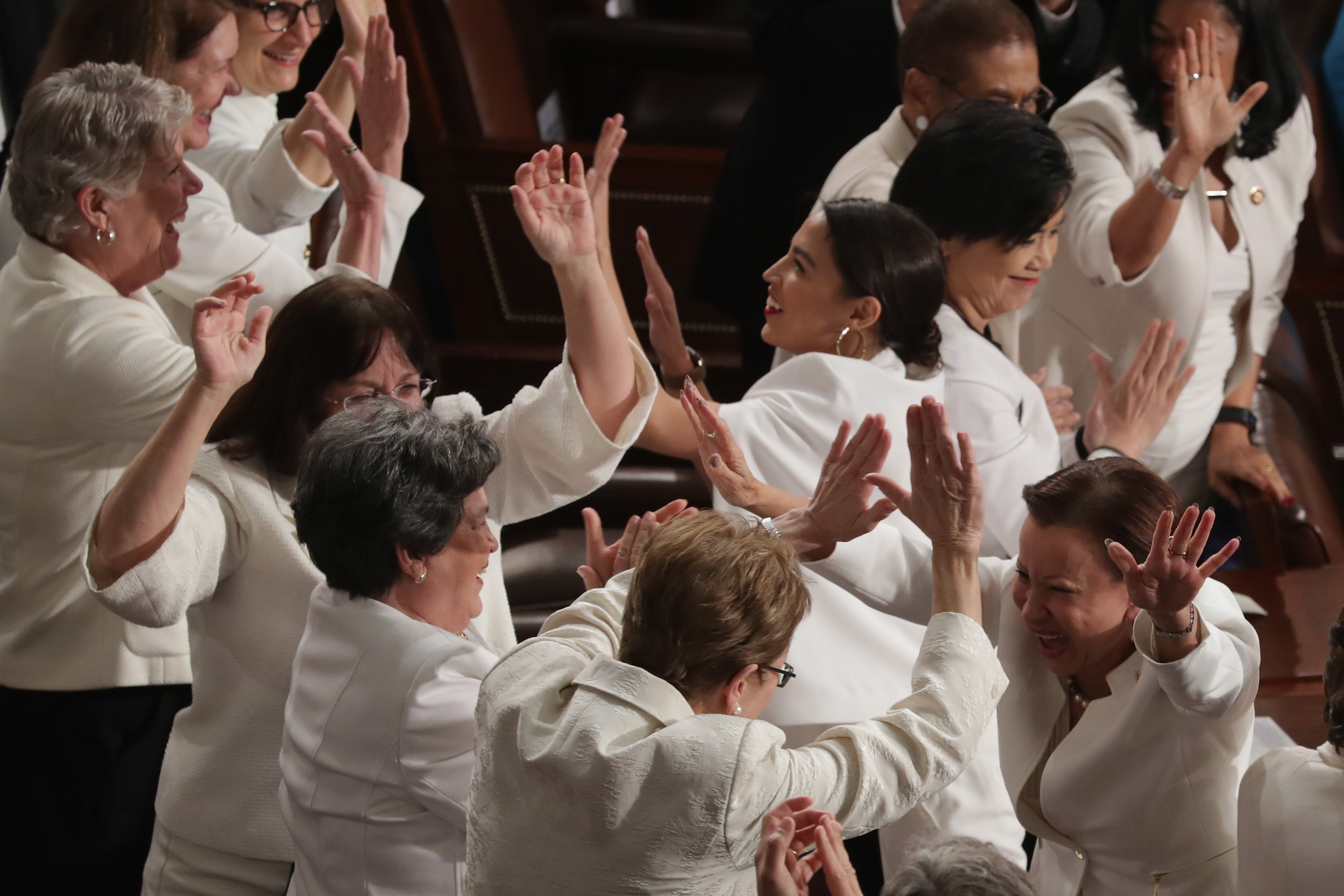 Congresswomen wearing white at the State of the Union address | Photo: Getty Images