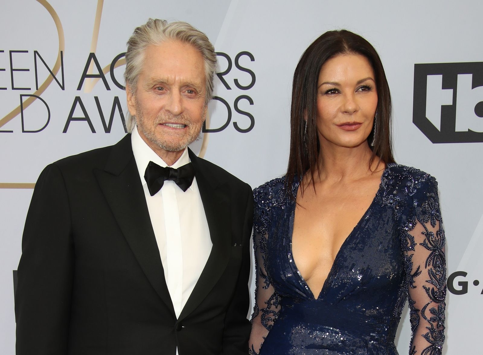 Michael Douglas and Catherine Zeta-Jones at the 25th Annual Screen Actors Guild Awards at The Shrine Auditorium on January 27, 2019 | Photo: Getty Images