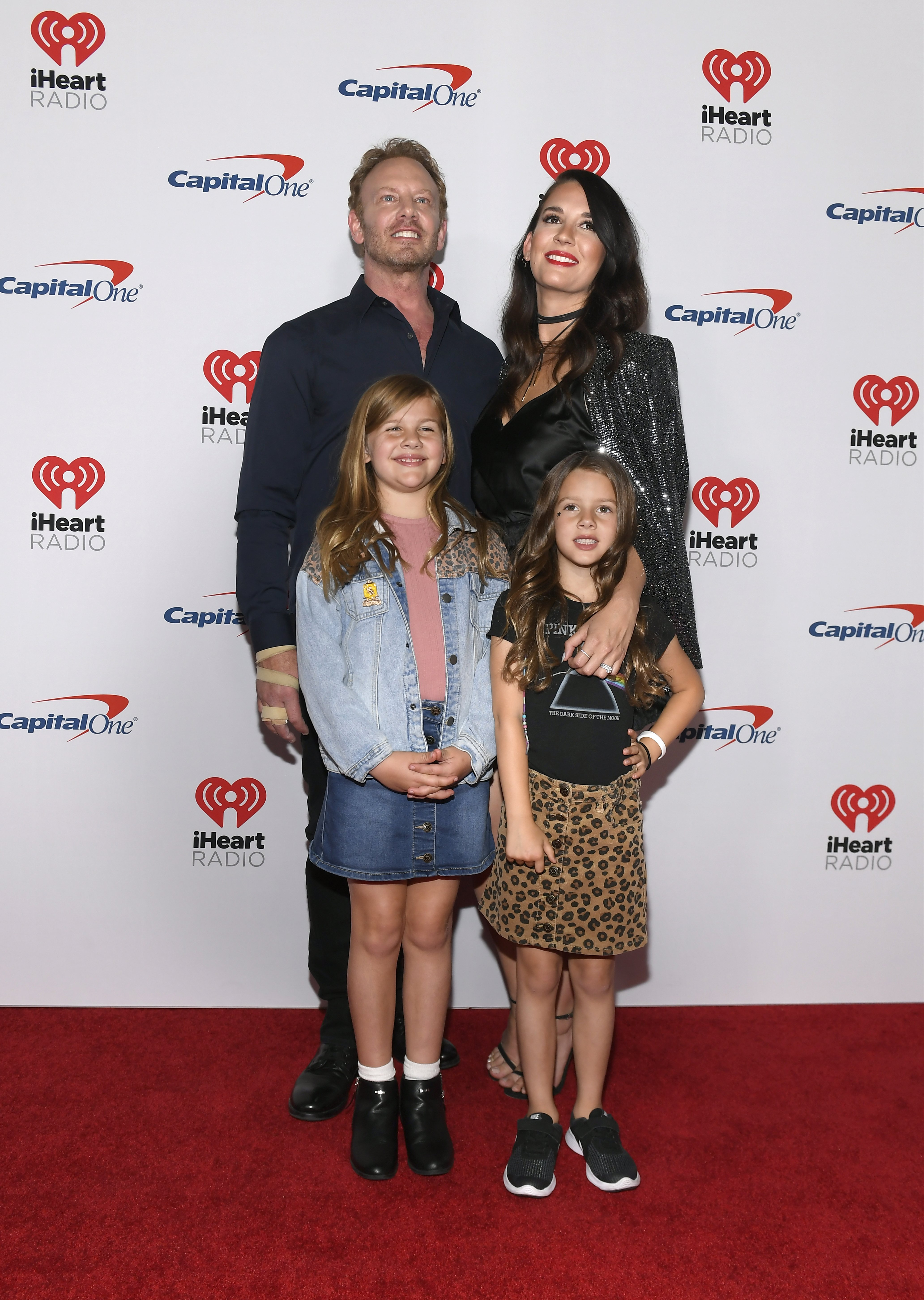Ian Ziering, Erin Ludwig, Loren Ziering and Penna Ziering attend the iHeart Radio Music Festival on September 20, 2019, in Las Vegas, Nevada. | Source: Getty Images.
