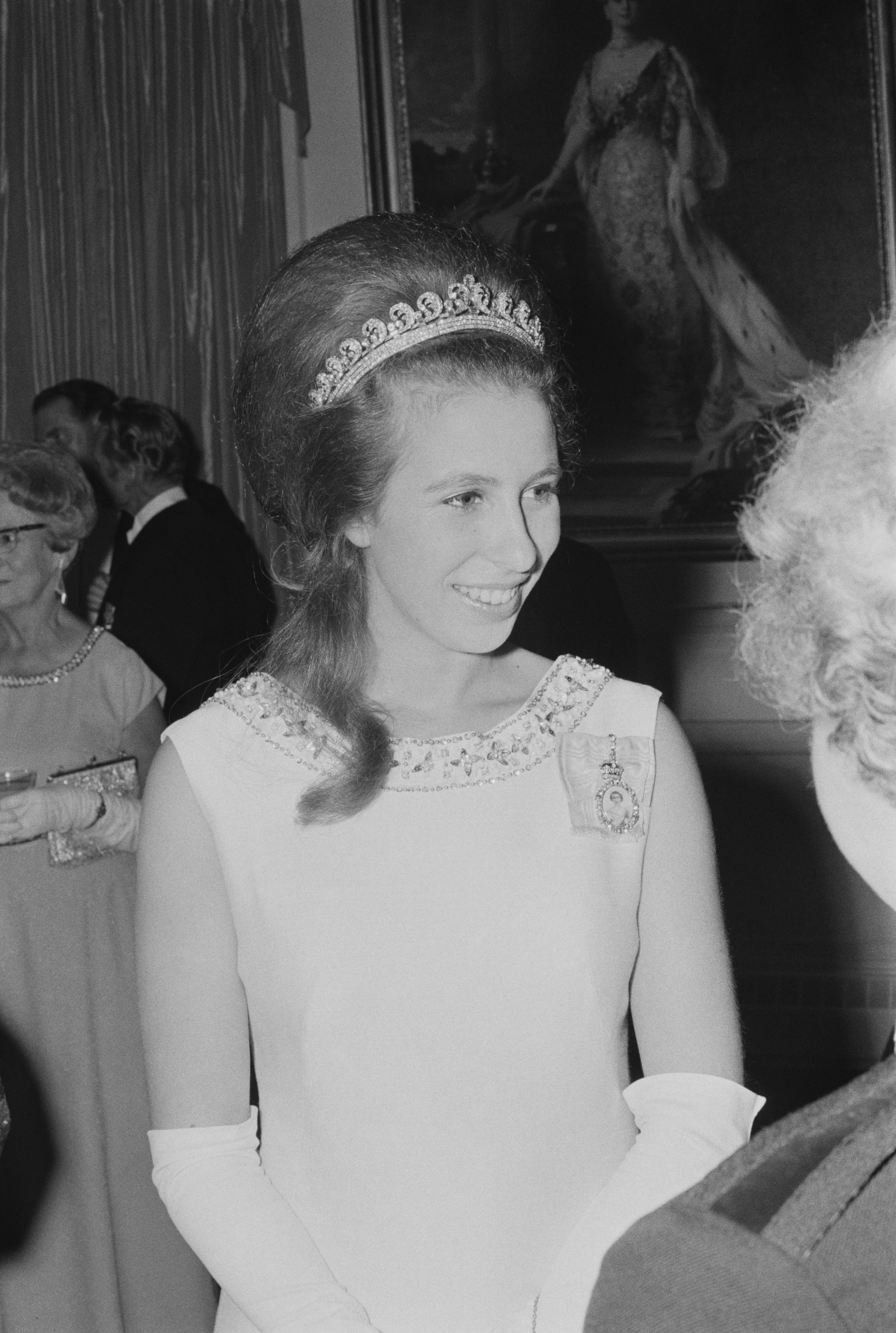 Princess Anne attends a formal event during a visit to New Zealand on March 16, 1970 | Photo: Getty Images