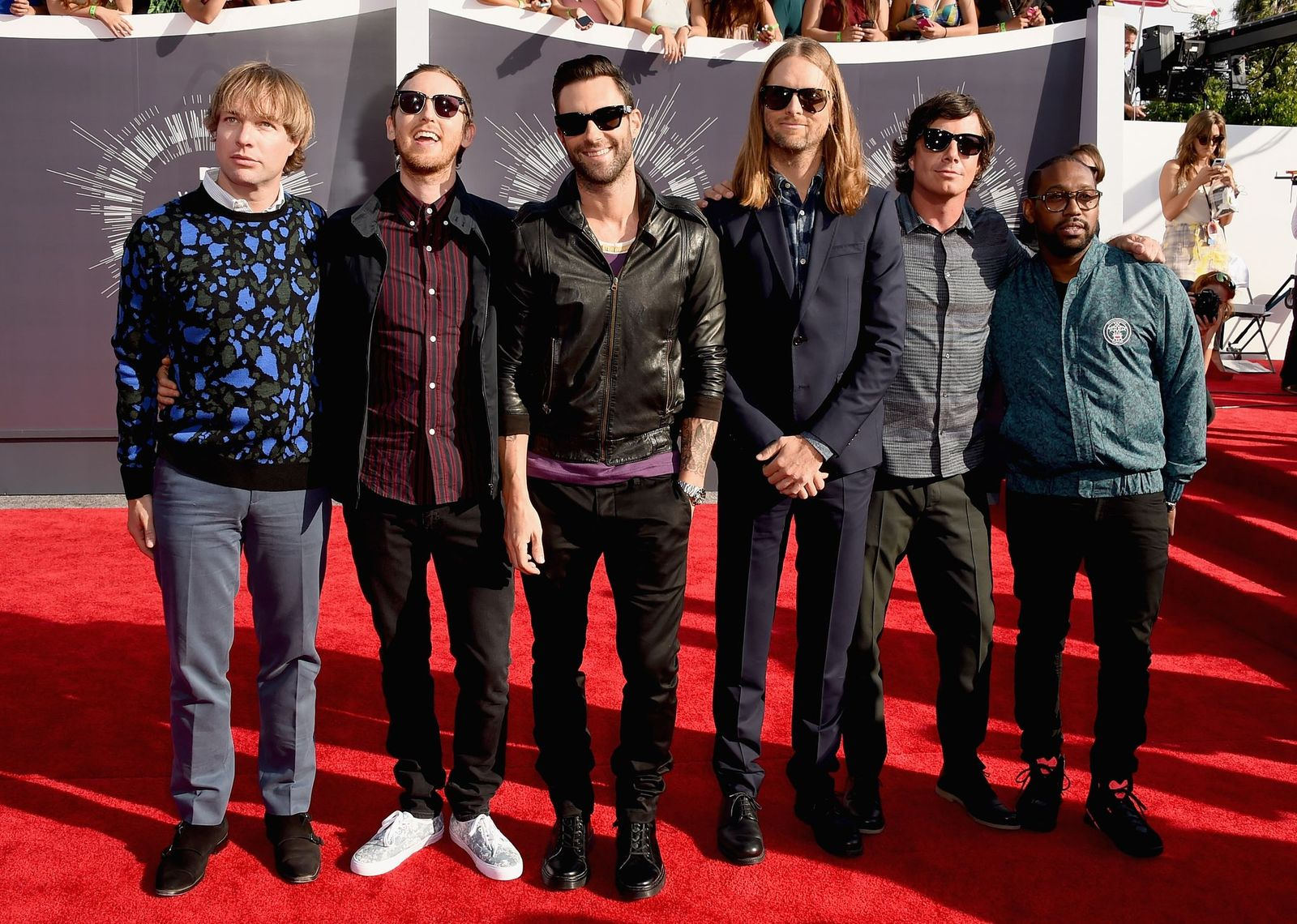 Maroon 5 at the MTV Video Music Awards on August 24, 2014, in Inglewood, California | Photo: Steve Granitz/WireImage/Getty Images