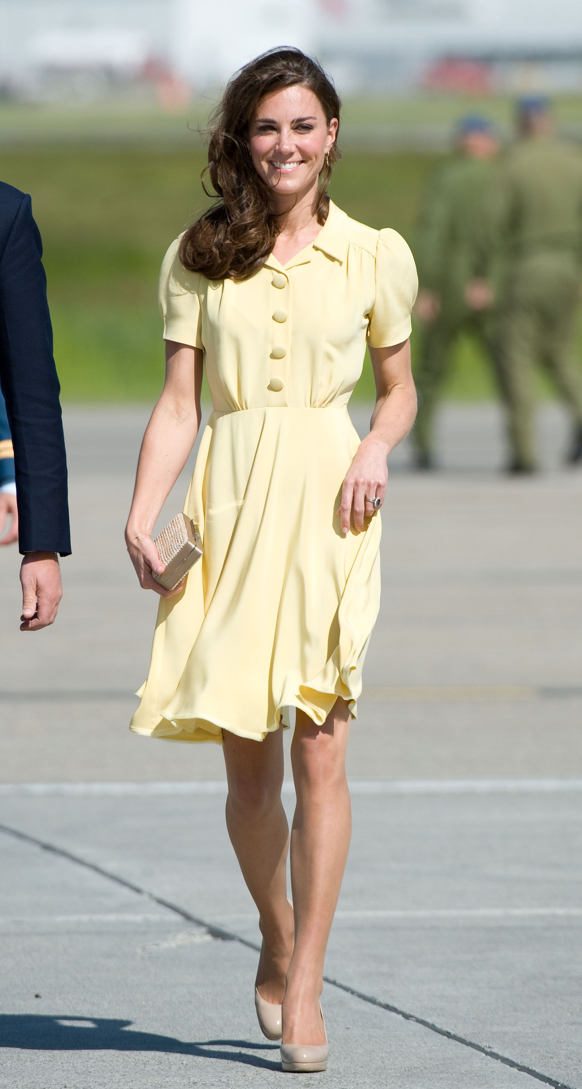 Catherine Middleton at Calgary Airport on day 8 of the Royal couple's tour of North America on July 7, 2011 in Calgary, Canada.   Source: Getty Images