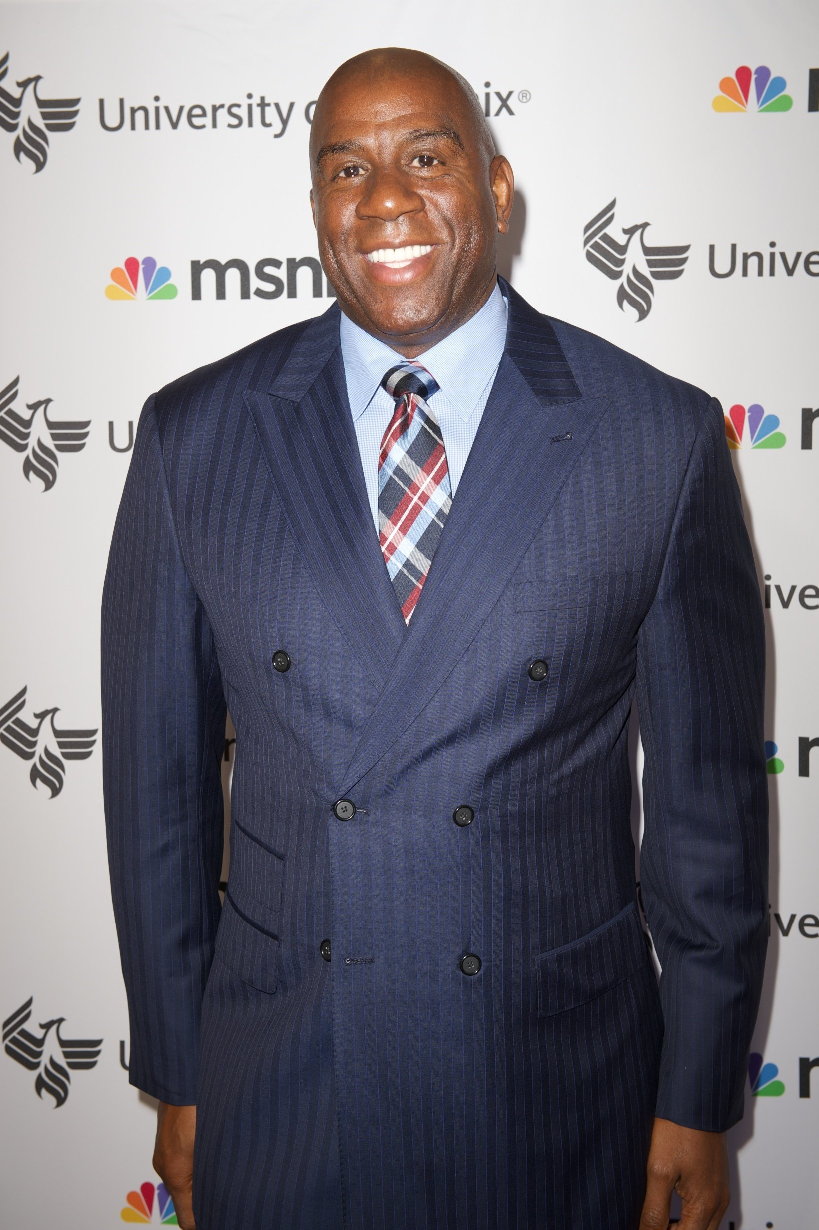 """NBA star Magic Johnson attending """"Advancing the Dream"""" live at the Apollo Theater on September 2013.   Photo: Getty Images"""