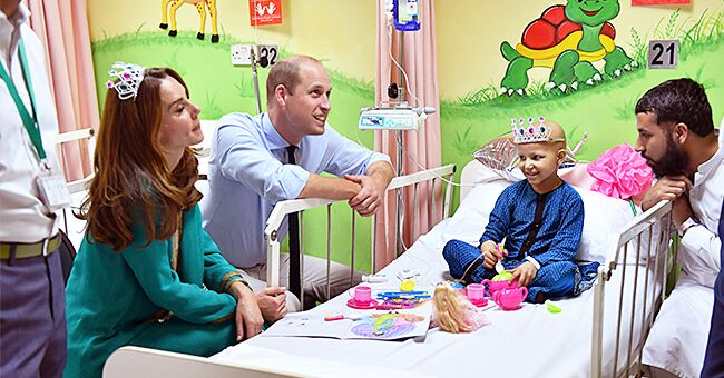 Kate & William Pay Tribute to Princess Diana as They Visit Child Cancer Patients in Pakistan