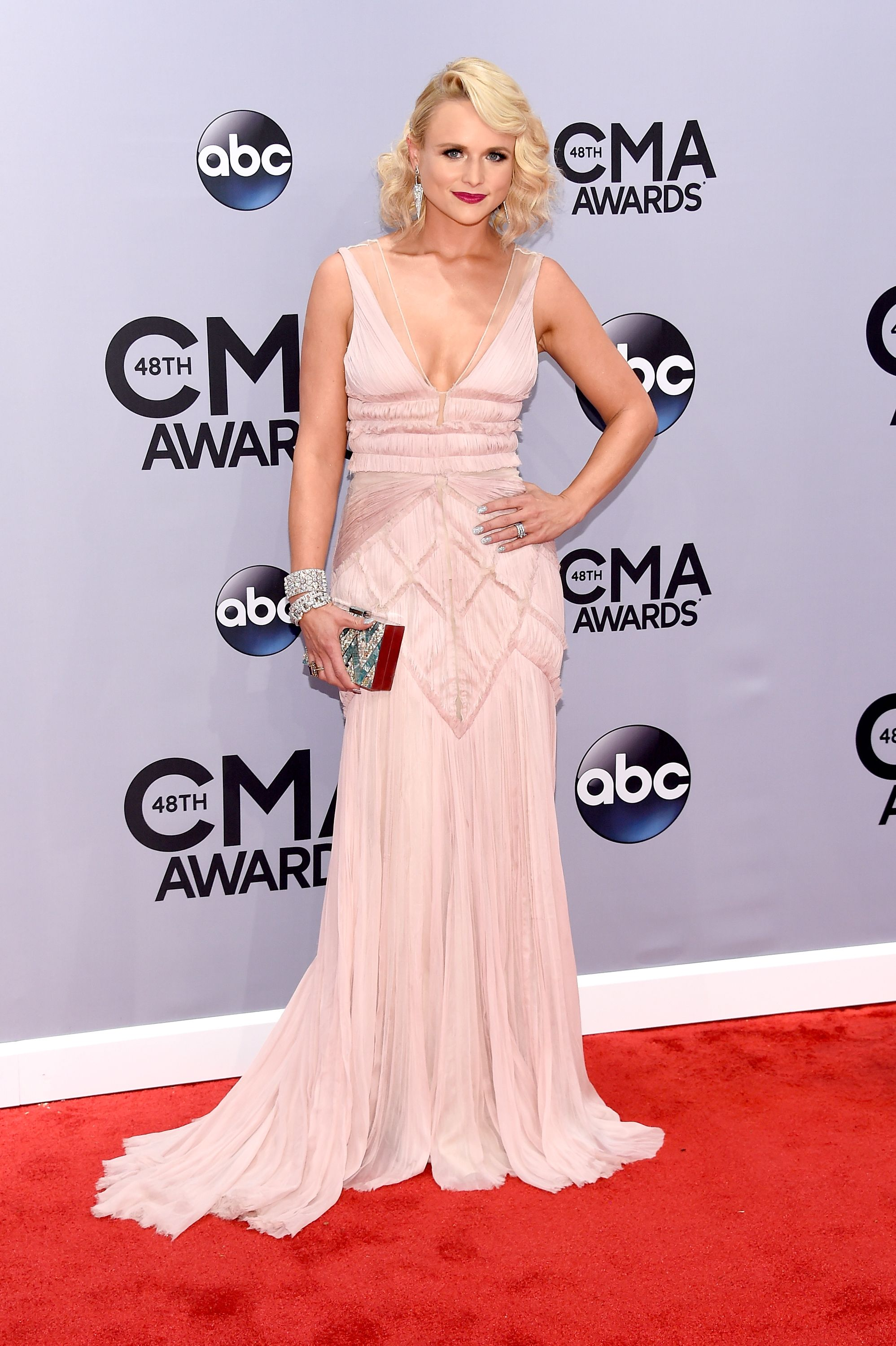 Miranda Lambert during the 48th annual CMA Awards at the Bridgestone Arena on November 5, 2014, in Nashville, Tennessee. | Source: Getty Images
