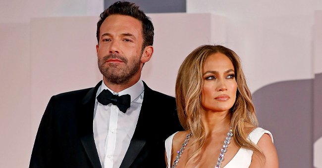 """Ben Affleck and Jennifer Lopez on the red carpet for """"The Last Duel""""during the 78th Venice International Film Festival in Venice, Italy, onSeptember 10, 2021 