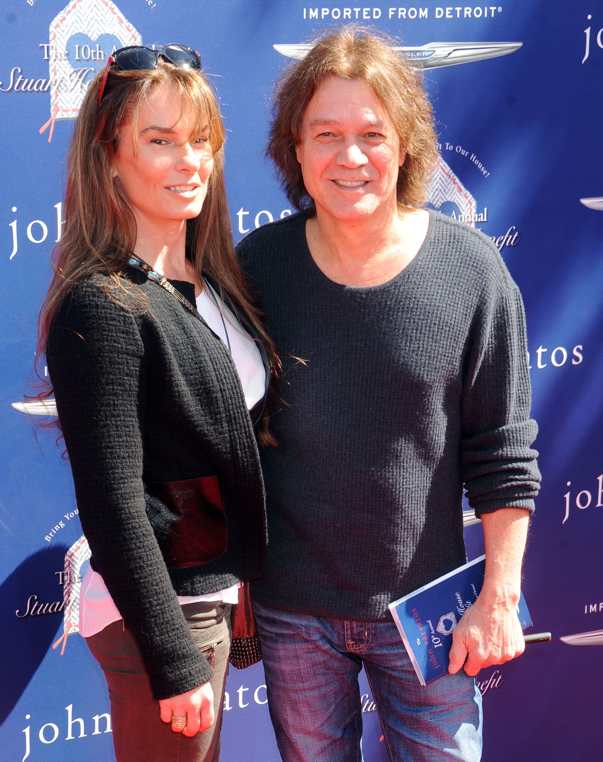 Eddie Van Halen and wife Janie Liszewski at John Varvatos 10th Annual Stuart House Benefit in 2013 in Los Angeles, California   Source: Getty Images