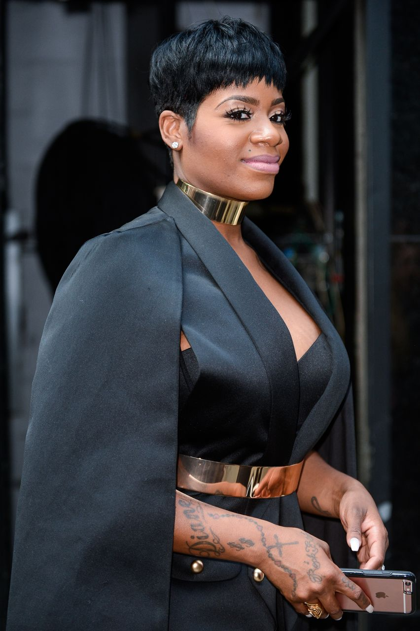 """Fantasia Barrino leaves the """"Good Morning America"""" taping at the ABC Times Square Studios on July 25, 2016 in New York City. 