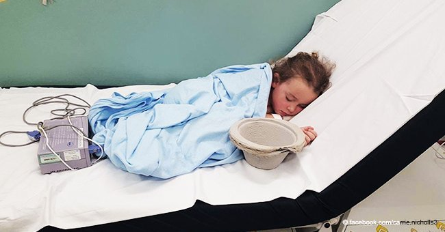 'This is what bullying does': Exhausted girl's photo in hospital bed was shared 297,000 times