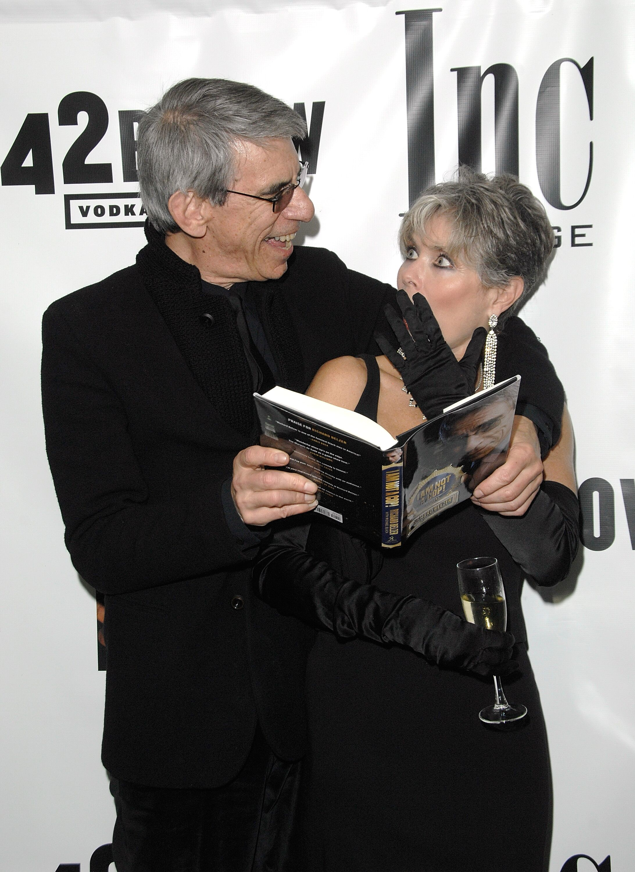 "Richard Belzer and wife, Harlee McBride attend the book launch celebration for Richard Belzer's ""I Am Not A Cop!"" 