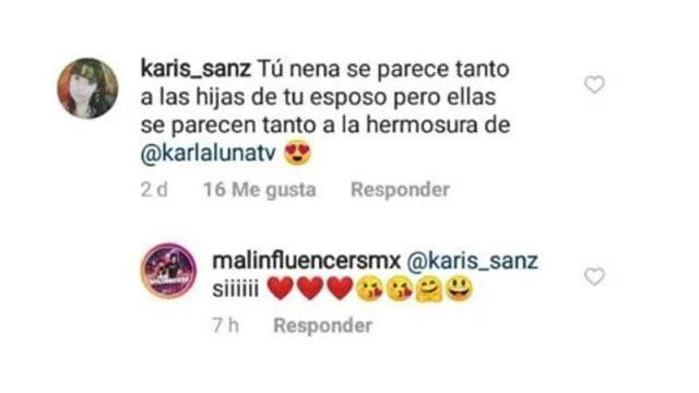 Captura de pantalla de comentario de seguidor de Panini y su respuesta. | Imagen: Instagram/malinfluencersmx