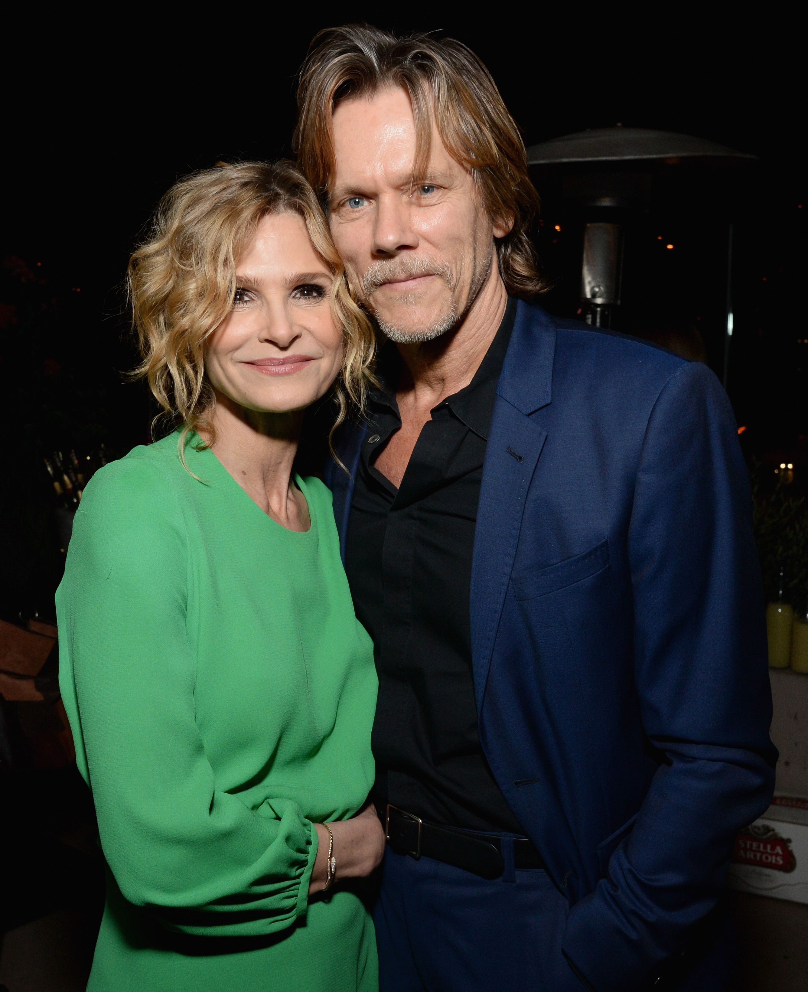 Kyra Sedgwick and Kevin Bacon at Moet Celebrates The 75th Anniversary of The Golden Globes Award Season at Catch LA on November 15, 2017   Photo: Getty Images