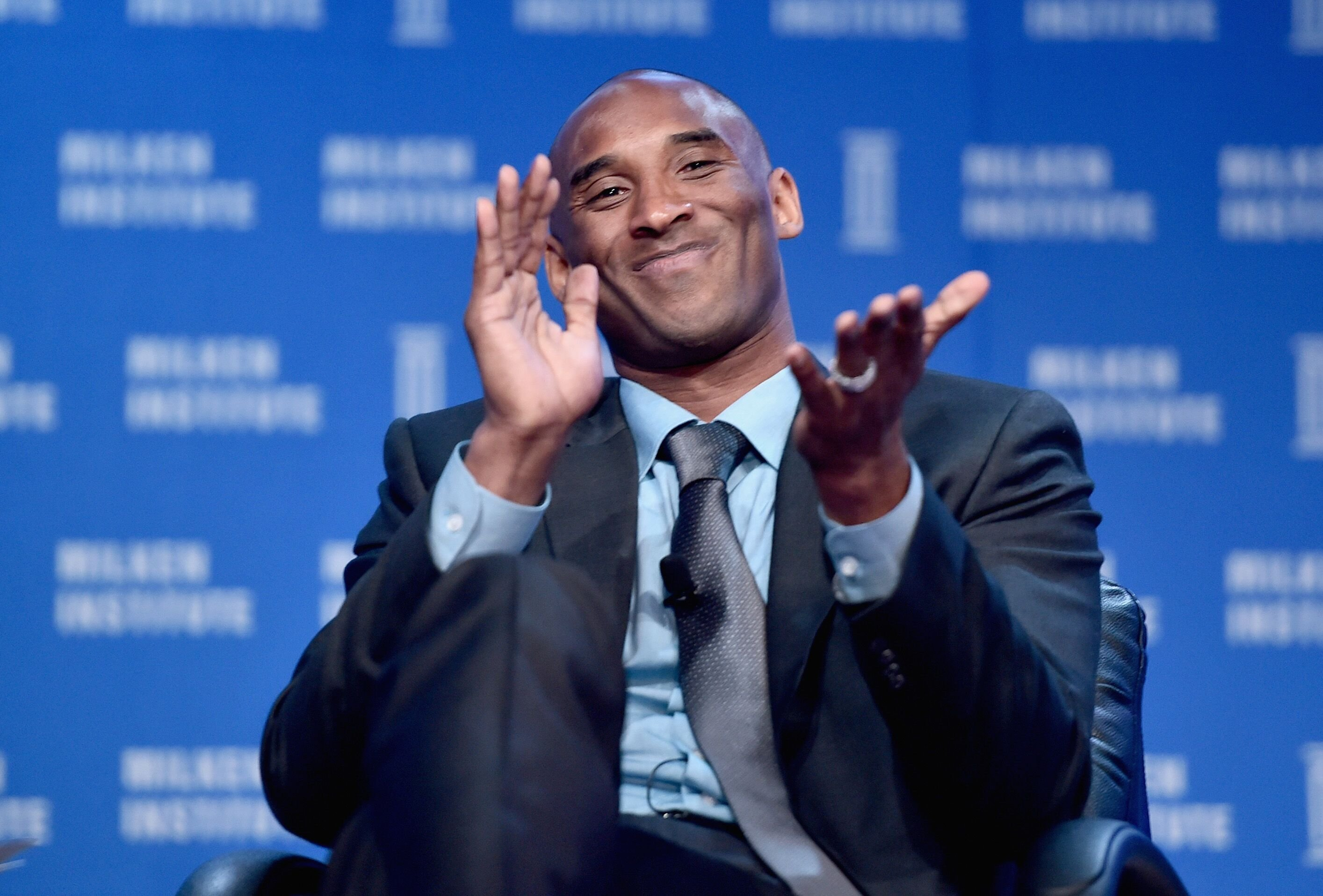 Kobe Bryant speaks onstage during 2016 Milken Institute Global Conference. | Source: Getty Images