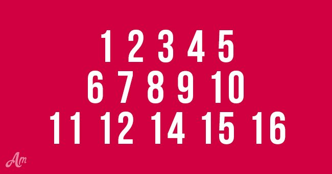 How fast can you guess the missing number?
