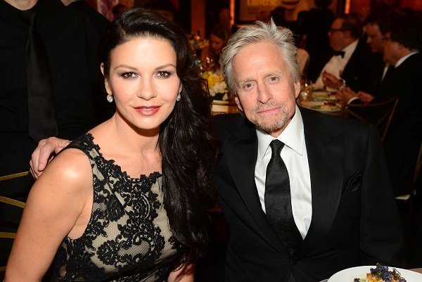 Catherine Zeta-Jones and Michael Douglas on June 5, 2014 in Hollywood, California | Source: Getty Images