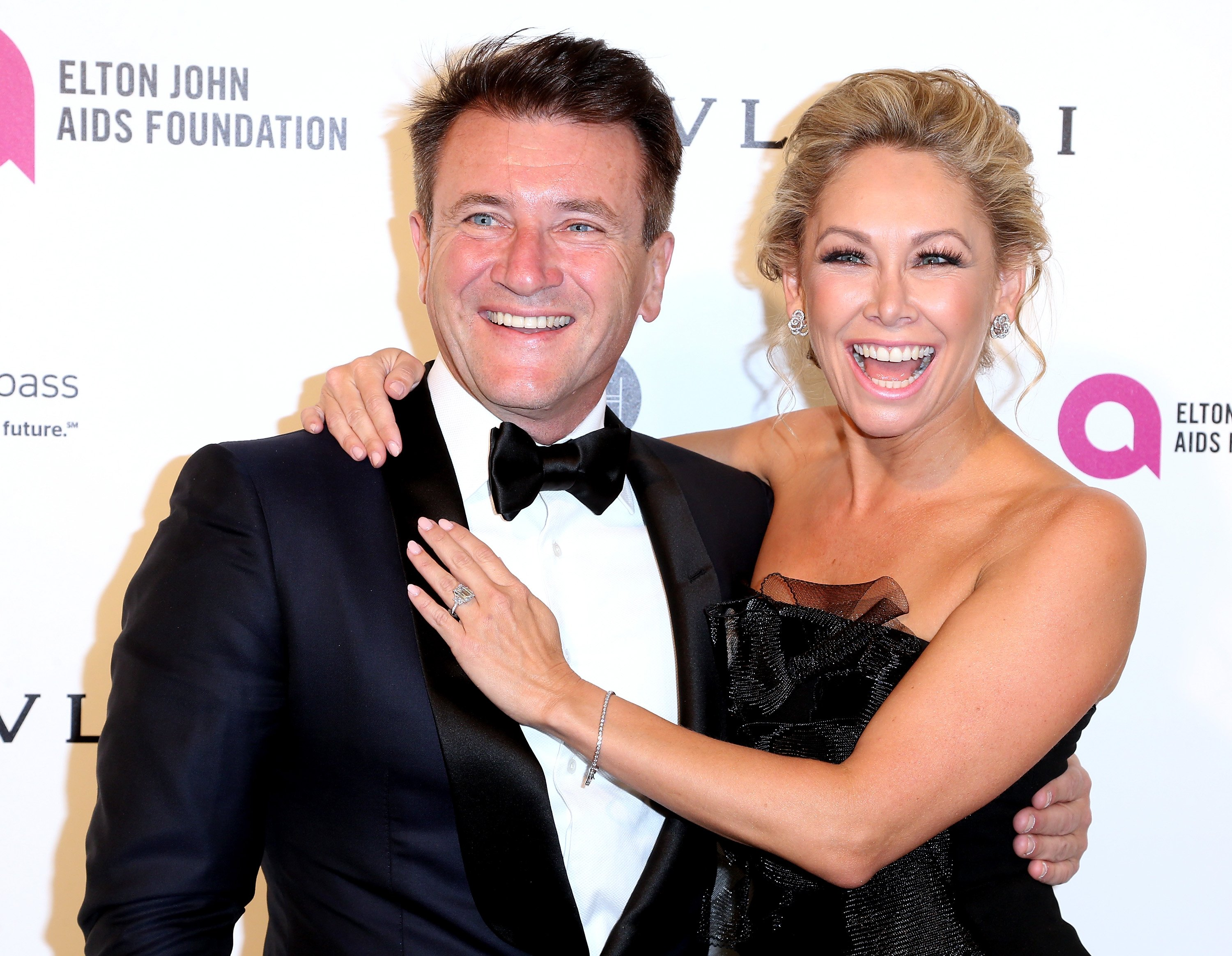 Kym Johnson and Robert Herjavec attend the 24th Annual Elton John AIDS Foundation's Oscar Viewing Party on February 28, 2016, in West Hollywood, California. | Source: Getty Images.