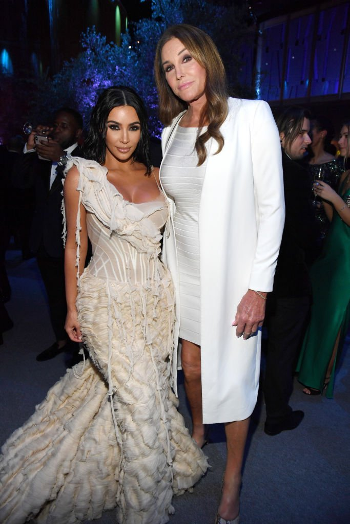 Kim Kardashian West and Caitlyn Jenner on February 09, 2020 in Los Angeles, California | Photo: Getty Images