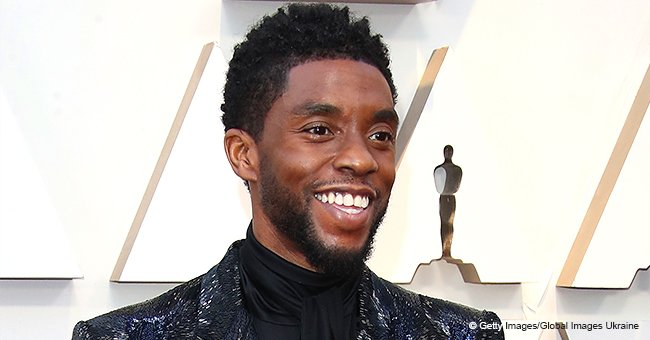 'Black Panther's Chadwick Boseman Was All Smiles as He Hit Oscars Red Carpet with Longtime Love