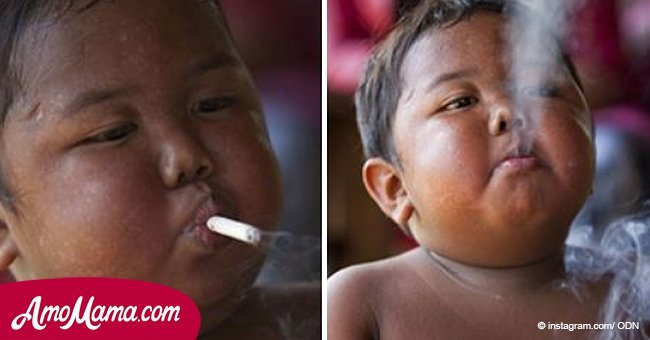 He smoked 2 packs per day when he was 2, now he is 9