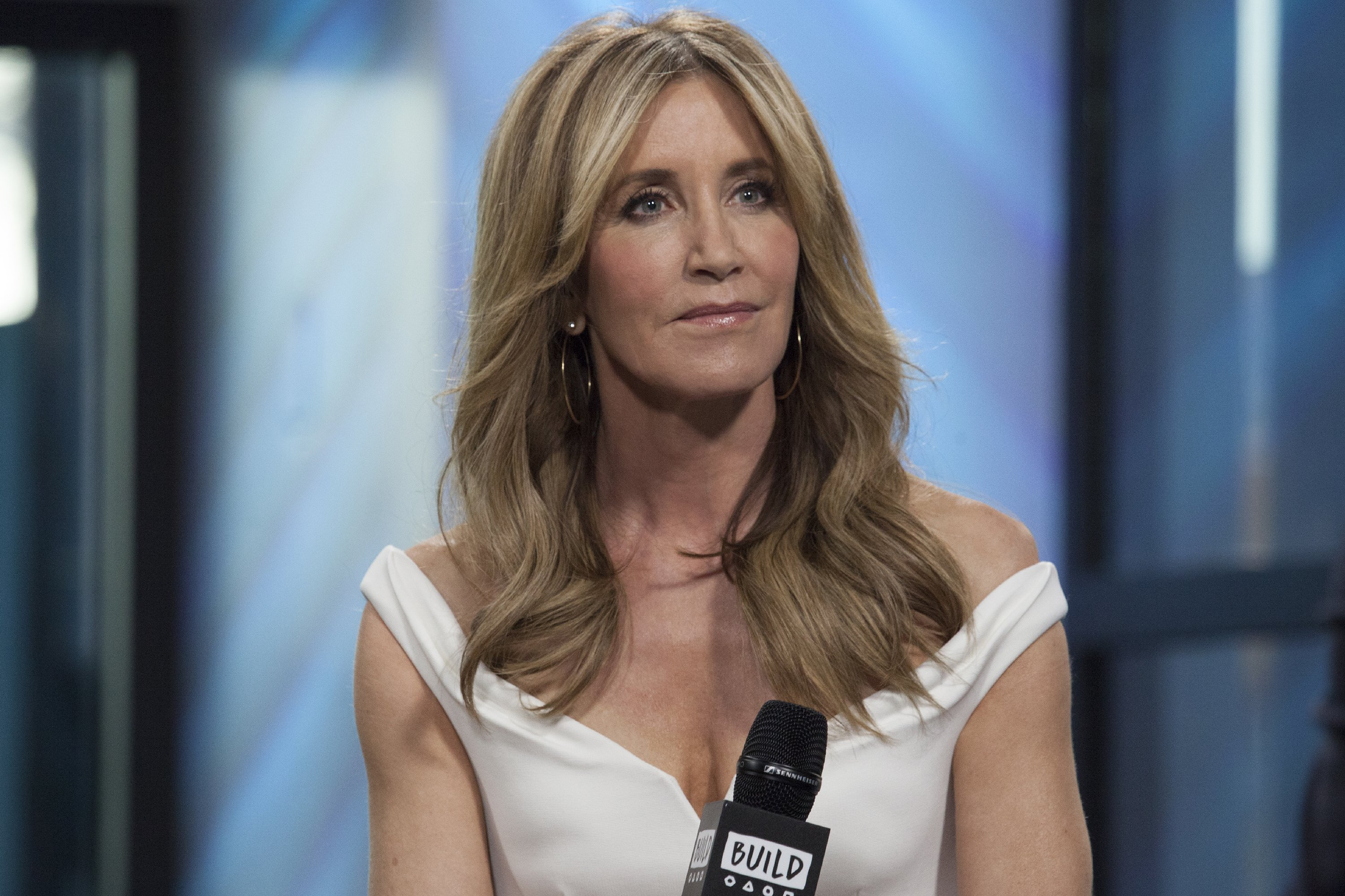 """Felicity Huffman attends Build Series to discuss """"American Crime"""" at Build Studio in March 