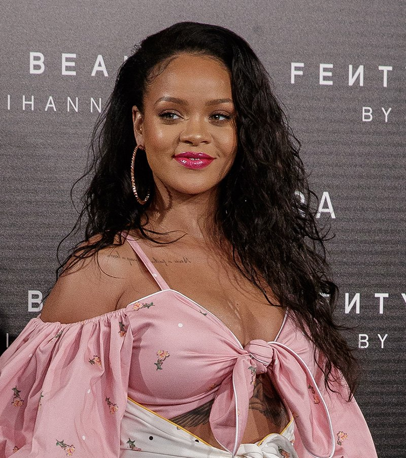 Rihanna attending the Fenty Beauty by Rihanna presentation in Madrid, Spain in 2017. I Image: Getty Images.