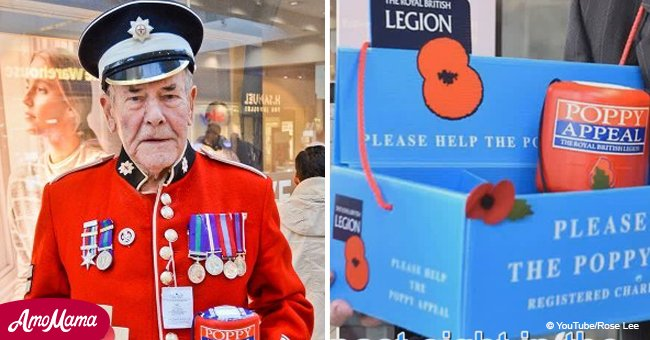 84-year-old army veteran selling poppies was ripped off by thieves for around $2,000
