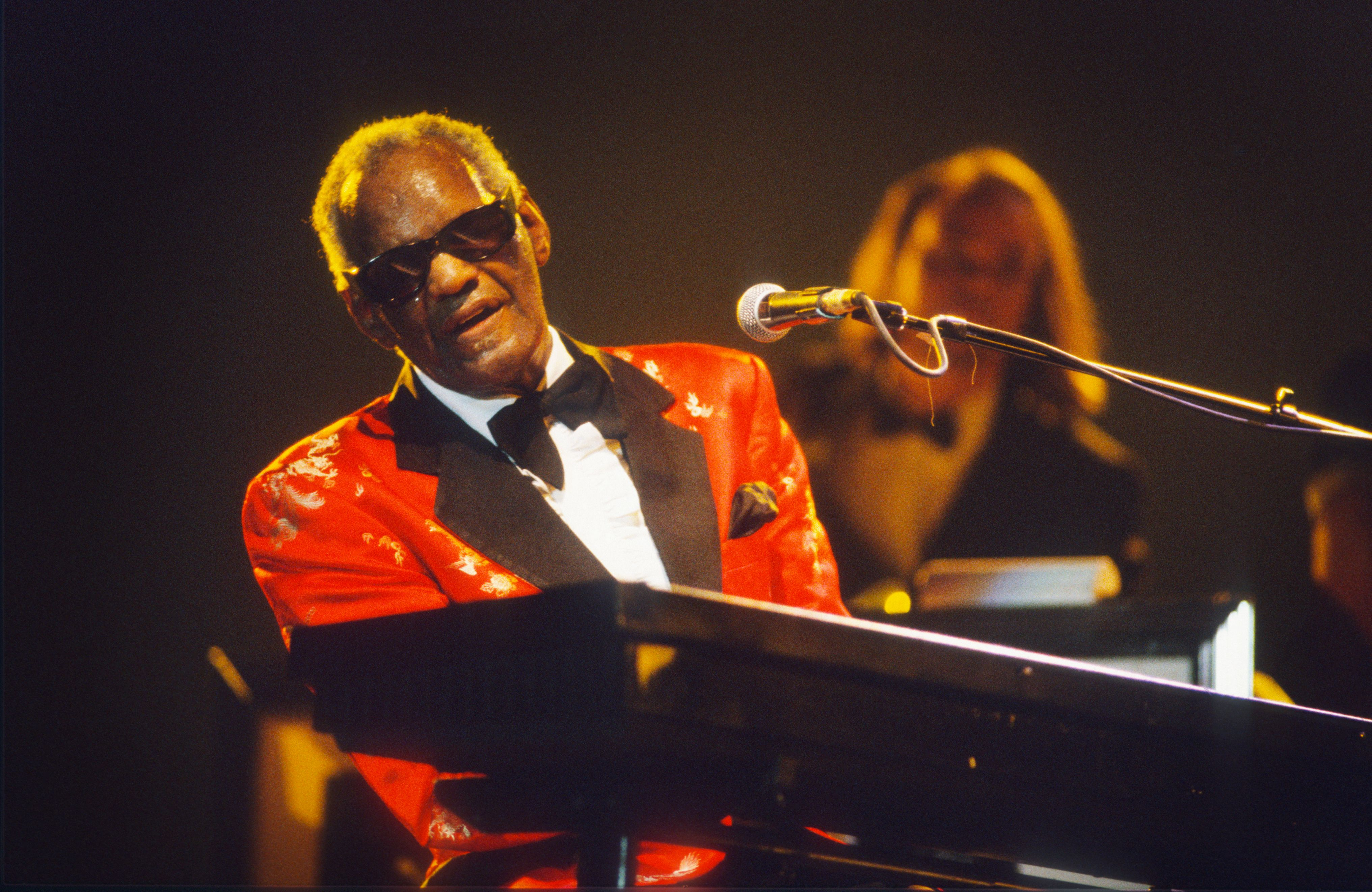 Ray Charles at the Rhythm 'n' Blues Festival in Peer, Belgium on January 07, 1994 | Photo: Gie Knaeps/Getty Images
