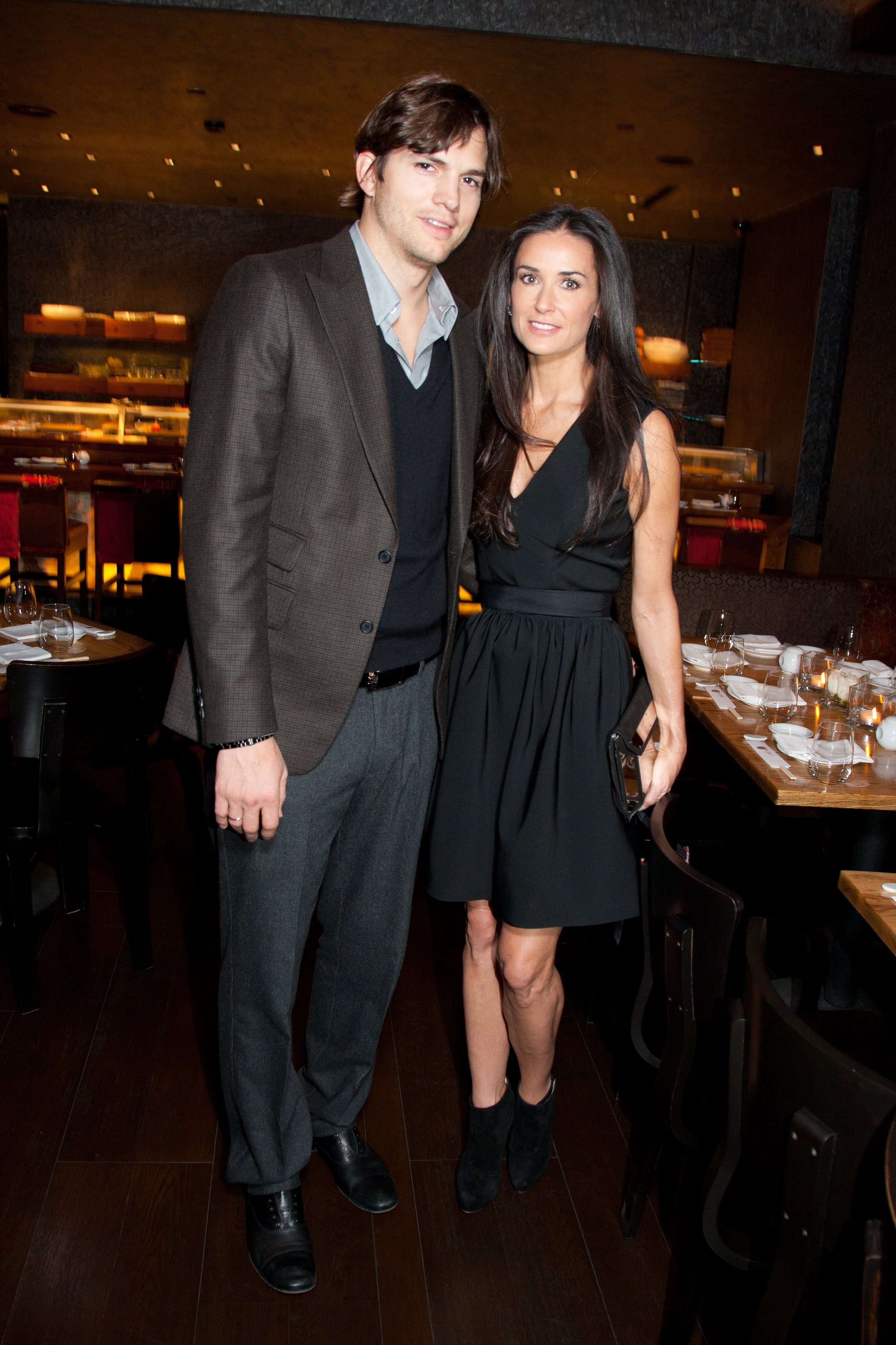 Ashton Kutcher and Demi Moore attend the Private Dinner after their Charity Gala in 2010. | Source: Getty Images