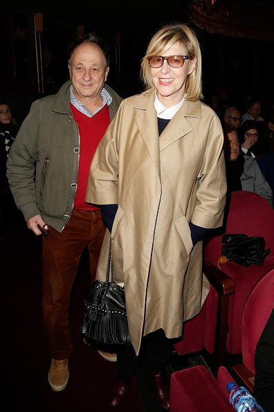 "Michel Ansault et Chantal Ladesou assistent à la première pièce de théâtre ""Big Bang"" au Théâtre du Gymnase à Paris, France. 