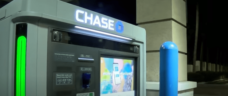 A Chase bank ATM   Source: Pexels