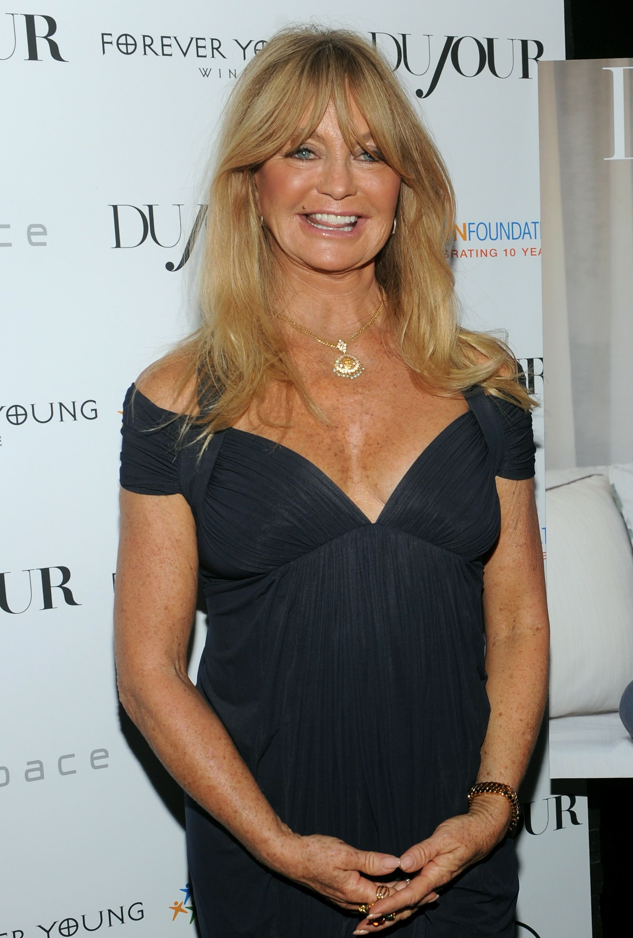 Goldie Hawn at DuJour's celebration of The Hawn Foundation on September 25, 2013. | Source: Getty Images