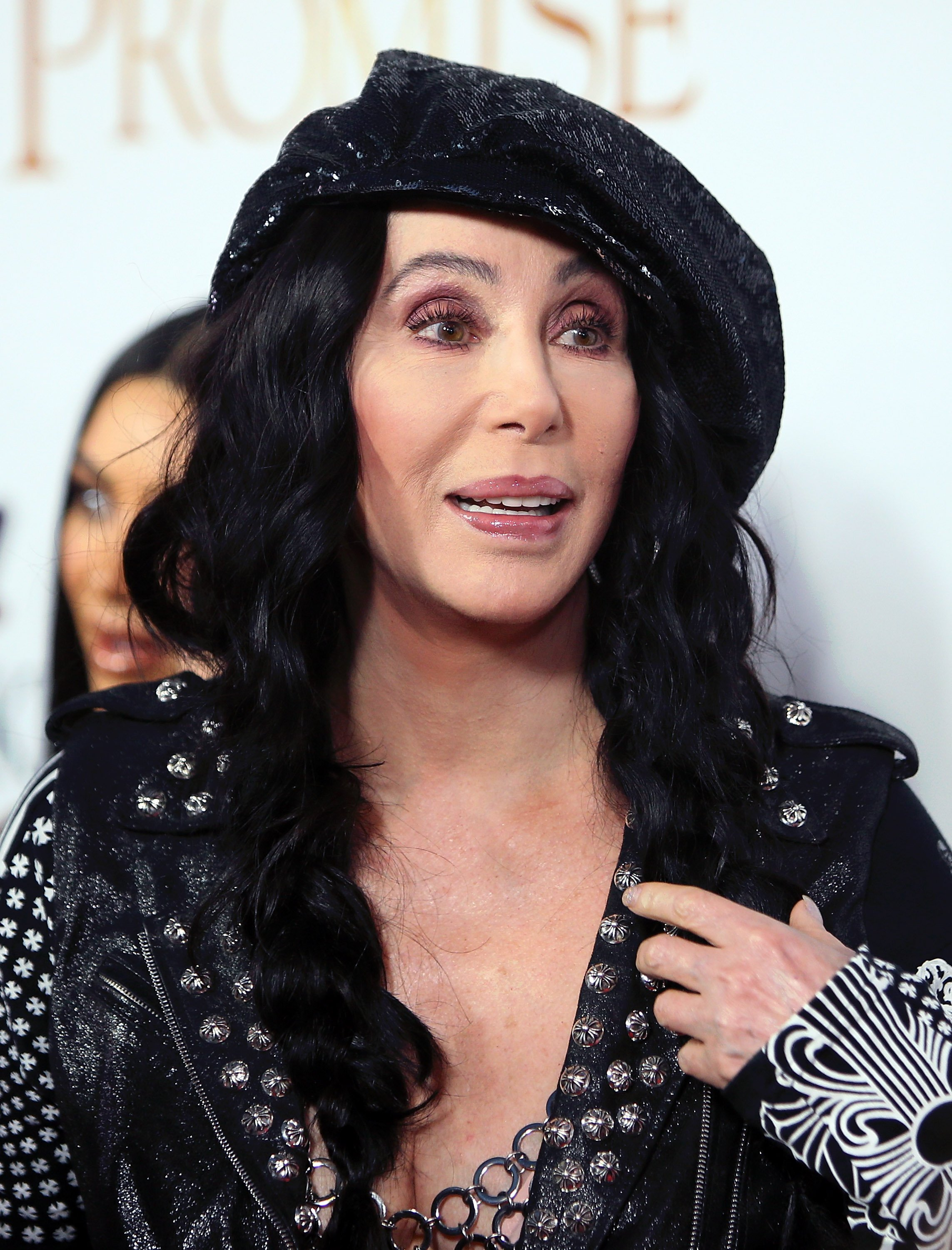 """Cher pictured at the premiere of Open Road Films' """"The Promise"""" at TCL Chinese Theatre, 2017 