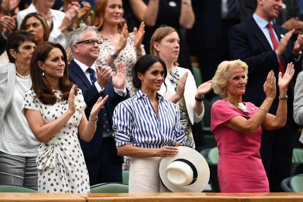 Kate Middleton et Meghan Markle au Wimbledon de 2018. l Source : Getty Images