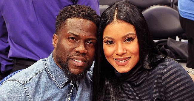 Kevin Hart's Pregnant Wife Eniko Shows off Growing Baby Bump While Working Out in Their Home Gym